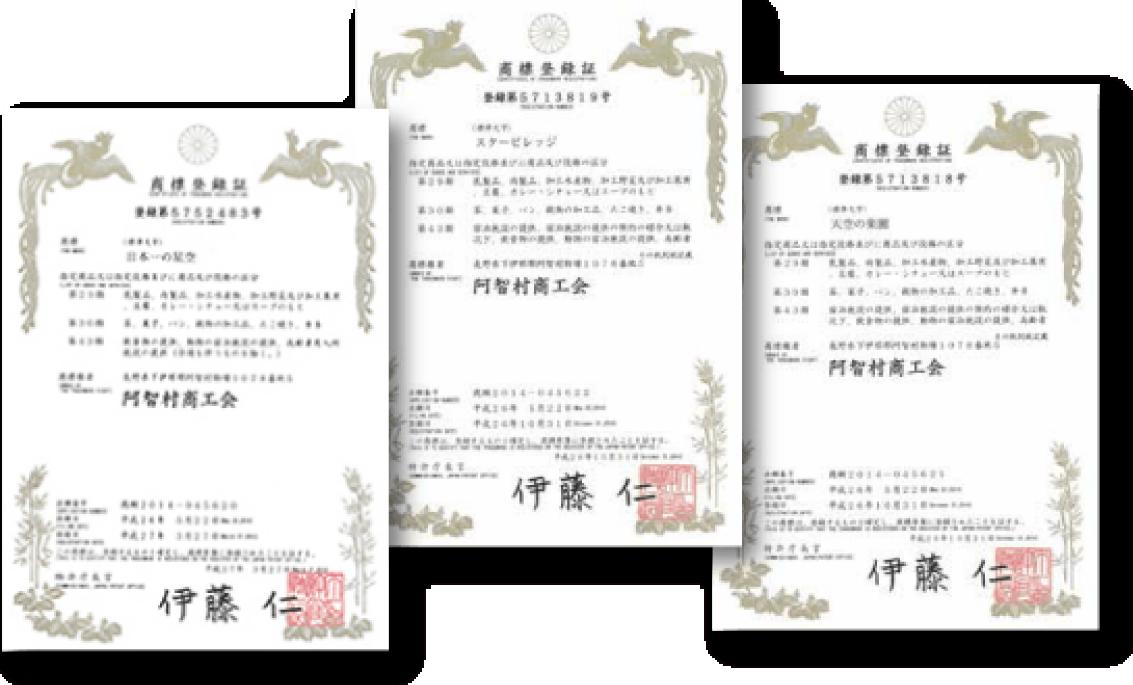 「スタービレッジ」「日本一の星空」「天空の楽園」を商標登録