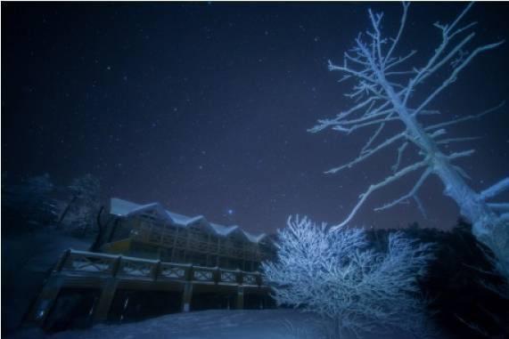 樹氷の萬岳荘